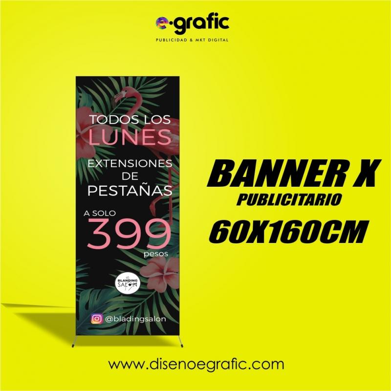 BANNER-X ESTRUCTURA Y LONA